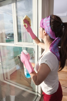 Window cleaning in Bargaintown by Pristine Cleaning Service - women cleaning window