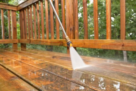 Pressure washing by Pristine Cleaning Service